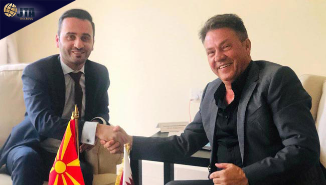 The President met the Ambassador of Republic of North Macedonia in Doha...